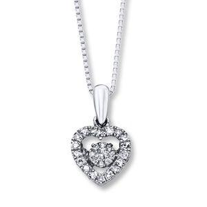 Diamond in Rhythm 1/5 ct tw Heart Sterling Silver